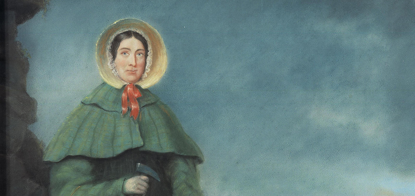 Pastel portrait of Mary Anning by Benjamin John Merifield Donne, 1850. <br><i> ©The Geological Society of London.</i>