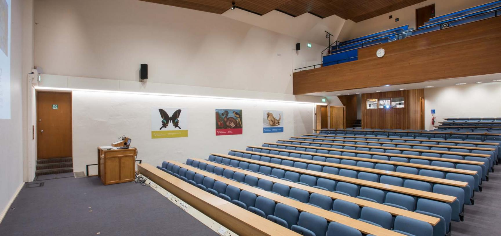 lecture theatre at the Museum of Natural History in Oxford