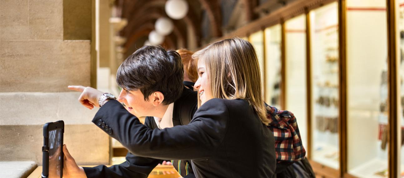 Secondary school students at the Museum