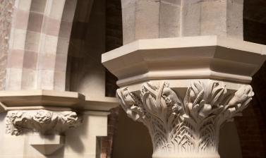 Carved botanical capital