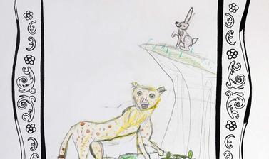 hunting the hare by mira highly commended 5 7 year old category