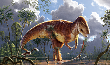 A palaeoart reconstruction of Megalosaurus bucklandii, the first dinosaur ever to be described by scientists.