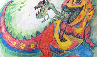 my dream dinosaur by ayaan winner 8 11 year old category