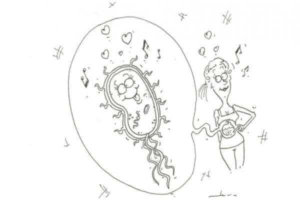 bacterial girl illustration 1
