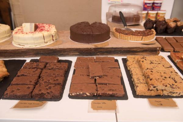A selection of cakes at the Oxford University Museum of Natural History cafe