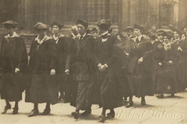 Degree students in 1920 - H Deneke memoir
