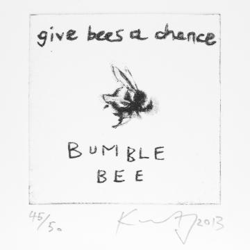 Give Bees a Chance by Kurt Jackson